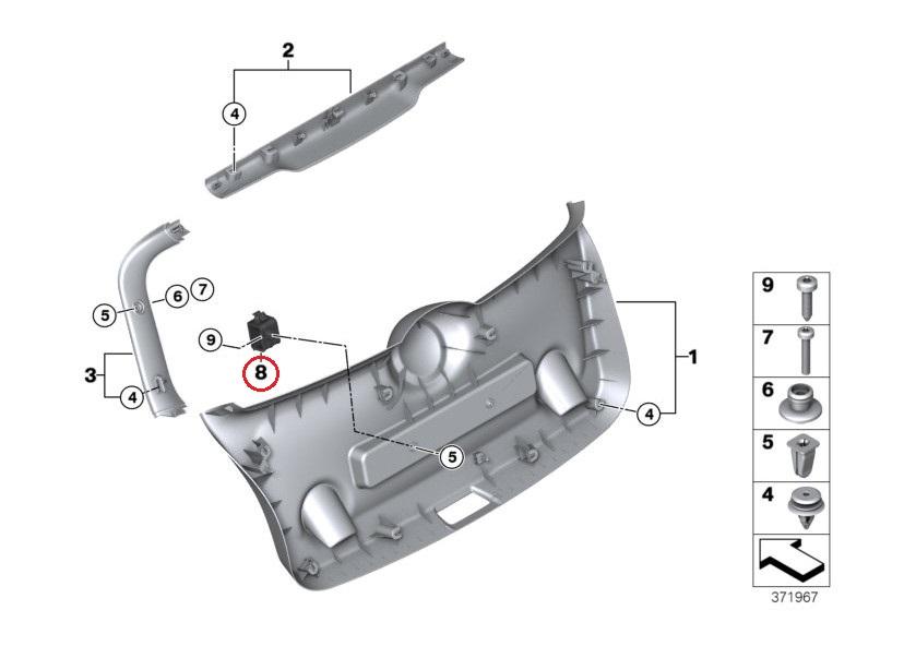 Bmw Mini F55 F56 三角表示板ホルダー 51497375203 Mini純正 ユーロオート Jp Euroauto Jp 通販
